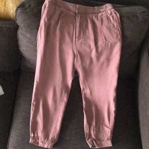 Free People Dusty Pink Relaxed Trousers